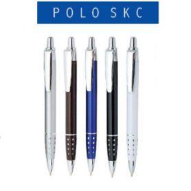 Ручка масляна Digno Polo White автоматична, металевий корпус, синя
