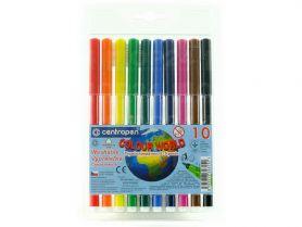 Фломастери 10шт. Centropen Colour world