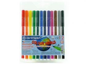 Фломастери 12шт. Centropen Colour world