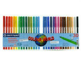 Фломастери 30шт. Centropen Colour world