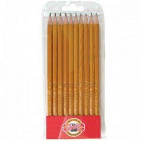 Набір олівців графітних KOH-I-NOOR 10 шт. 2Н-3В