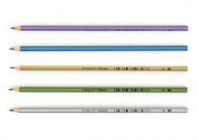Олівець графітний 1Вересня НВ Slim metallic мікс