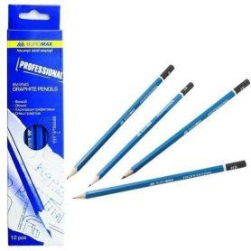 Набір олівців графітних Buromax 12шт. 6В-4Н