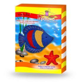 Набор для творчества Мягкая игрушка своими руками Рыбка и морская звезда
