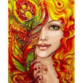 Картина по номерах 40х50см Вогняна дівчина