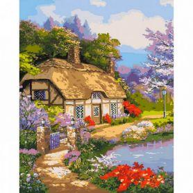 Картина по номерах 40х50см Заміський будиночок