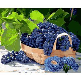 Набор для росписи по номерам 40х50см Виноград в корзине
