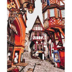 Картина по номерах 40х50см Яскраві вулички Німеччини