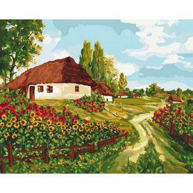 Картина по номерах 40х50см Українськими стежками