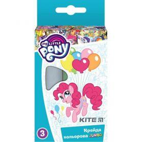 Крейда кольорова 3шт Jumbo Kite Little Pony кругла