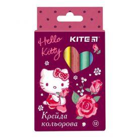 Крейда кольорова 12шт Kite Hello Kitty кругла