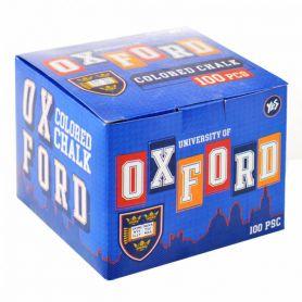 Крейда кольорова 100шт YES Oxford синій квадратна