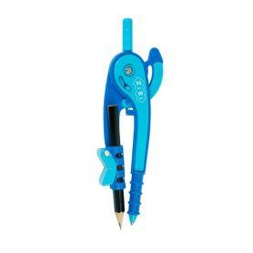 Циркуль 145мм у блістері, з тримачем для олівця фіолетово-блакитний ZiBi SMAR Line