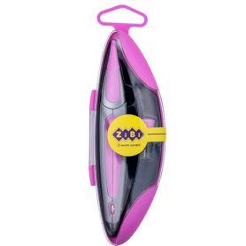Циркуль 135мм у пластиковому футлярі + грифель рожевий ZiBi Start Ergo KIDS Line