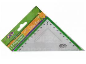 Трикутник пластиковий 45х45 10см прозорий з салатовою смужкою ZiBi