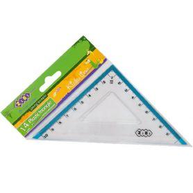 Трикутник пластиковий 45х45 10см прозорий з блакитною смужкою ZiBi