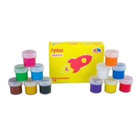 Гуаш 12 кольорів по 10мл Улюблені іграшки Гамма Нововолинськ
