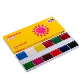 Акварель 12 кольорів Улюблені іграшки Гамма Нововолинськ в картоні, без пензлика