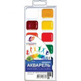 Акварель 12 кольорів Классика Луч пластикова упаковка, без пензлика