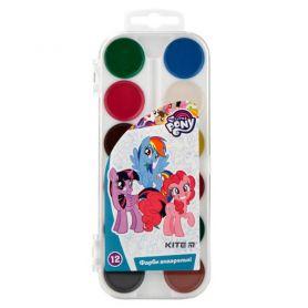 Акварель 12 кольорів Little Pony Kite пластикова упаковка, без пензлика