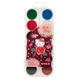 Акварель 12 кольорів Little Hello Kitty пластикова упаковка, без пензлика