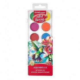 Акварель 12 кольорів Art Berry Erich Krause пластикова упаковка, без пензлика