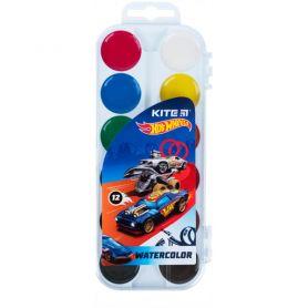 Акварель 12 кольорів Hot Wheels y пластикова упаковка, без пензлика