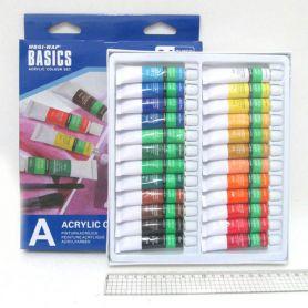 Фарби акрилові 24 кольори в тубах по 12мл Basics