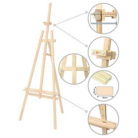 Мольберт стаціонарний Ліра №41, сосна 71х80х170 макс. висота полотна 124см (регулюється) ROSA Studio