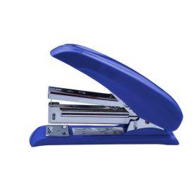 Степлер Buromax №24 -20арк пластиковий економія сили при натисканні 50% синій