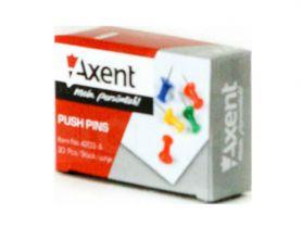 Кнопки-цвяшки 30шт кольорові Axent