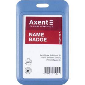 Бейдж вертикальний - слайдер димчастий синій 69х110 (вкладиш 54х85) Axent