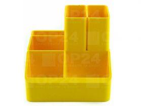 Підставка канцелярська пластикова жовта КіП