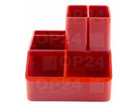 Підставка канцелярська пластикова червона КіП