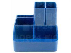 Підставка канцелярська пластикова синя КіП
