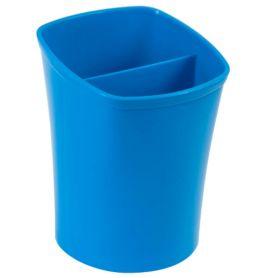 Стакан для ручок пластиковий 2 відділення синій ZiBi