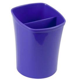 Стакан для ручок пластиковий 2 відділення фіолетовий ZiBi
