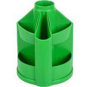 Підставка канцелярська пластикова зелена, обертається КіП