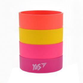 Стакан для ручок пластиковий збірний кольоровий Juicy Rings Yes