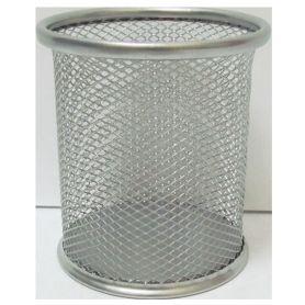 Стакан для ручок металевий сітка круглий 80х80х98 срібло Josef Otten