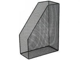 Лоток вертикальний 1 відділення металевий сітка чорний Buromax