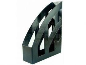 Лоток вертикальний 1 відділення пластиковий чорний КіП