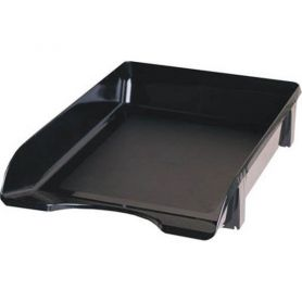 Лоток горизонтальний пластиковий чорний КіП