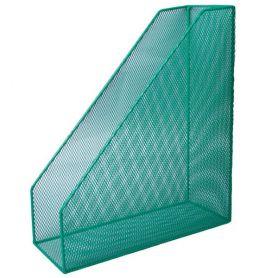 Лоток вертикальний 1 відділення металевий сітка зелений Buromax