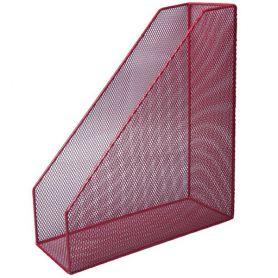 Лоток вертикальний 1 відділення металевий сітка червоний Buromax