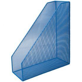 Лоток вертикальний 1 відділення металевий сітка синій Buromax