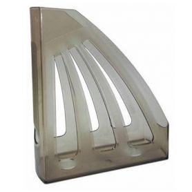 Лоток вертикальний 1 відділення пластиковий димчастий КіП