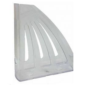 Лоток вертикальний 1 відділення пластиковий прозорий КіП