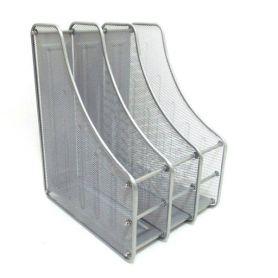 Лоток вертикальний 3 відділення металевий сітка сріблястий  J.Otten