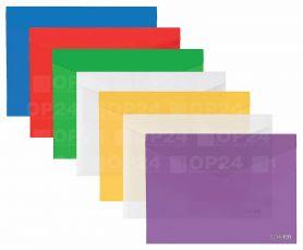 Папка пластикова А-3 на кнопці Economix прозора асорті